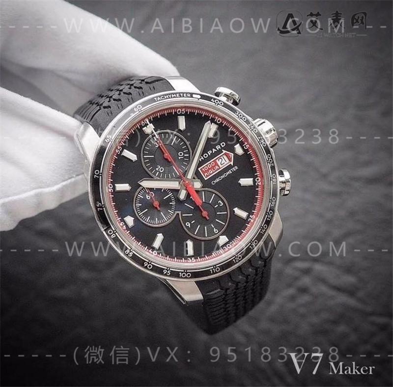 V7厂萧邦chopard经典赛车系列44mm男士腕表对比正品评测