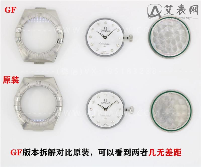 GF厂复刻欧米茄星座25mm腕表对比正品评测